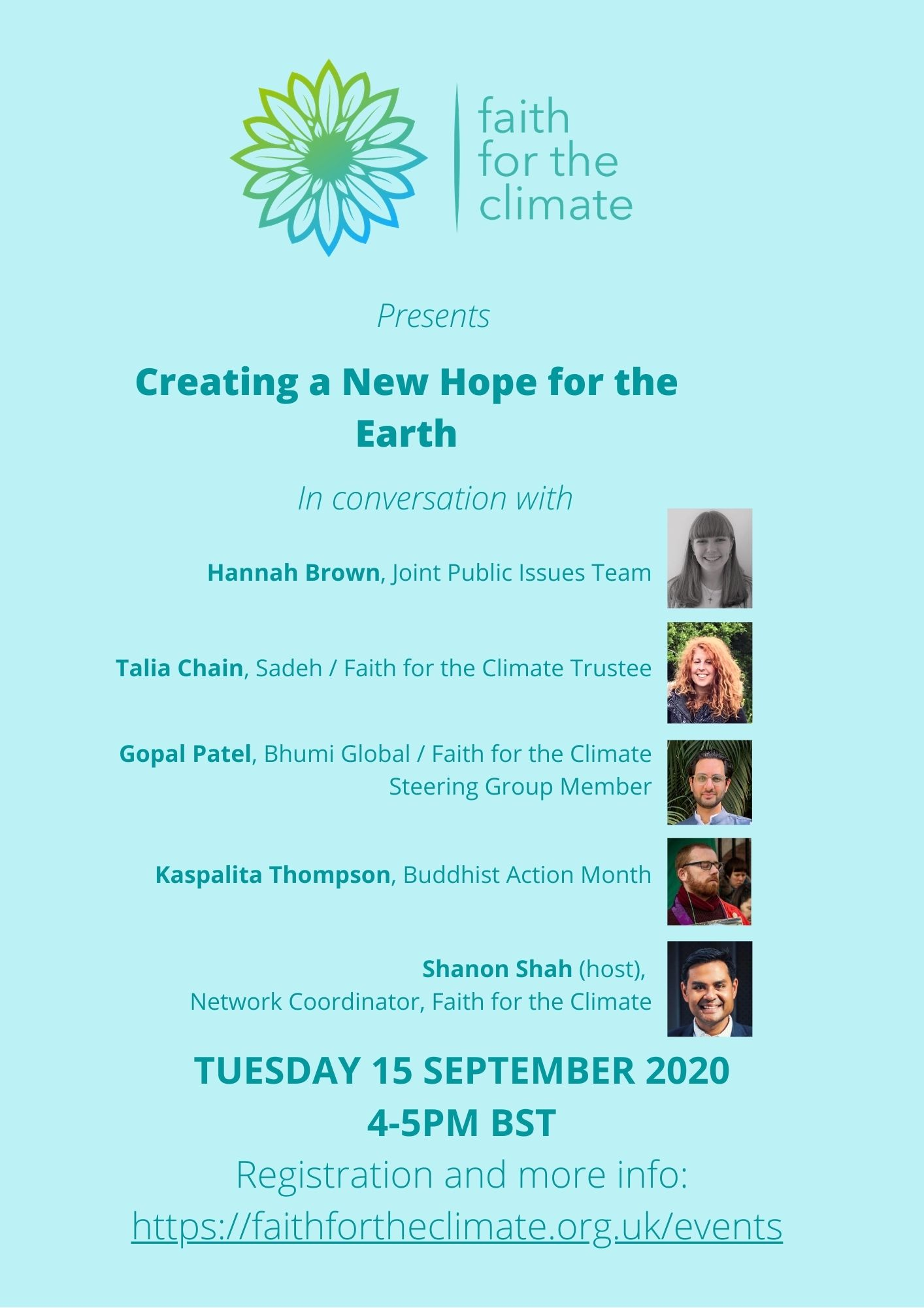 Faith for climate talk
